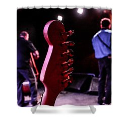Behind The Music Shower Curtain by Ray Congrove