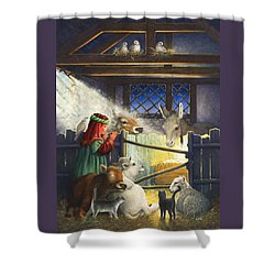 Behold The Child Shower Curtain