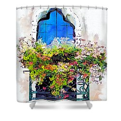 Shower Curtain featuring the painting Bei Fiori by Greg Collins