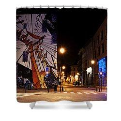 Belgium Street Art Shower Curtain by Juli Scalzi