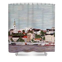 Belgrade Serbia Shower Curtain