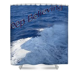 Shower Curtain featuring the photograph Believe by Aimee L Maher Photography and Art Visit ALMGallerydotcom