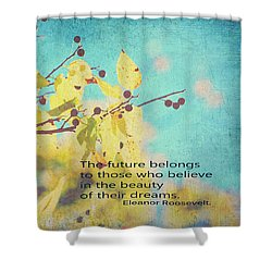 Believe In Dreams Shower Curtain