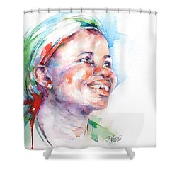 Believe Shower Curtain by Stephie Butler