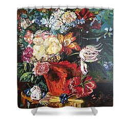 Life Is A Bouquet Of Flowers  Shower Curtain by Belinda Low