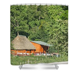 Belize House Shower Curtain