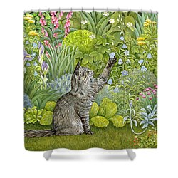 Bell Ringing Shower Curtain by Ditz