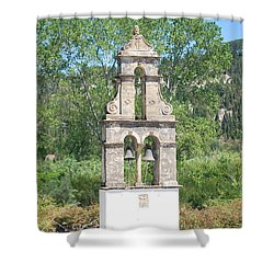 Shower Curtain featuring the photograph Bell Tower 1584 1 by George Katechis