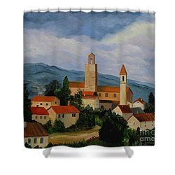 Bell Tower Of Vinci Shower Curtain