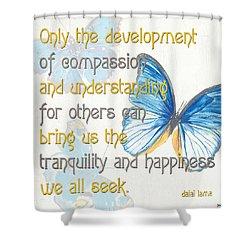 Bella Butterflies 1 Shower Curtain by Debbie DeWitt