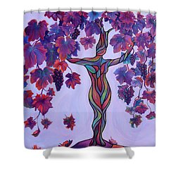 Bella Di Vino Shower Curtain by Sandi Whetzel