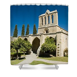 Bellapais Abbey Kyrenia Shower Curtain by Jeremy Voisey