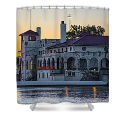 Belle Isle Boat House Shower Curtain