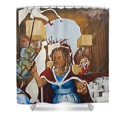 Bellona Goddess Of War Sister Of Mars Shower Curtain