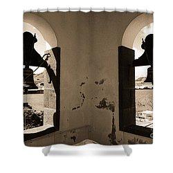 Bells Shower Curtain by Gaspar Avila