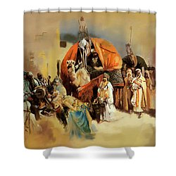 Belly Dancer Caravan Shower Curtain by Corporate Art Task Force