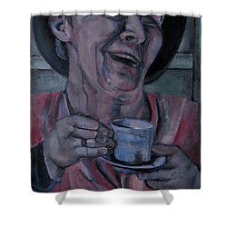 Belly Laugh Shower Curtain