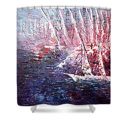 Belmont Turn  Shower Curtain by George Riney