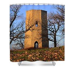 Shower Curtain featuring the photograph Beloit Historic Water Tower by Viviana  Nadowski