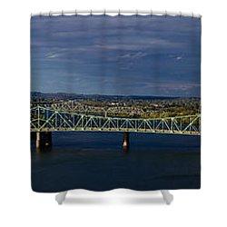 Belpre Bridge Shower Curtain