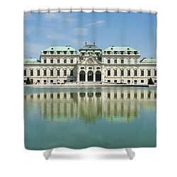 Shower Curtain featuring the photograph Belvedere Palace by Jeremy Voisey