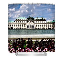 Shower Curtain featuring the photograph Belvedere Palace by Joe  Ng