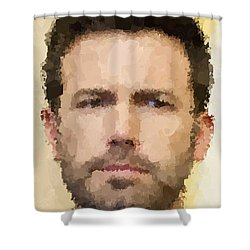 Ben Affleck Portrait Shower Curtain by Samuel Majcen