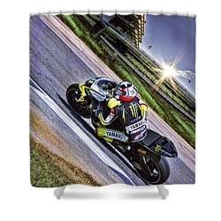 Ben Spies At Indy Shower Curtain