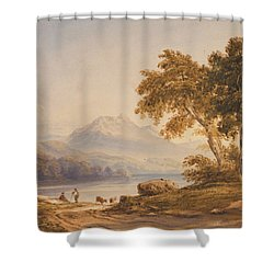 Ben Vorlich And Loch Lomond Shower Curtain by Anthony Vandyke Copley Fielding