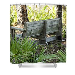 Bench In Nature Shower Curtain