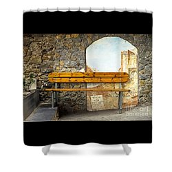 Bench In Riomaggiore Shower Curtain