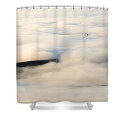 Beneath The Blanket Shower Curtain by Mike  Dawson