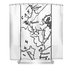 Benedict Arnold: Map, 1775 Shower Curtain by Granger