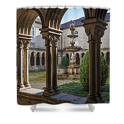 Benedictine Gothic Cloister Shower Curtain by Jose Elias - Sofia Pereira