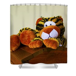 Bengal Tiger Abstract  Shower Curtain by Barbara Snyder