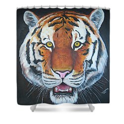 Shower Curtain featuring the painting Bengal Tiger by Thomas J Herring