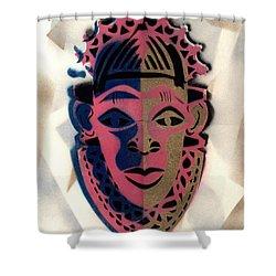 Benin Mask Shower Curtain
