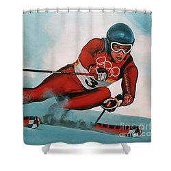 Benjamin Raich Shower Curtain by Paul Meijering