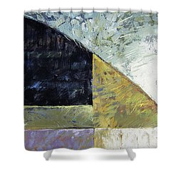 Bent On Abstraction Shower Curtain