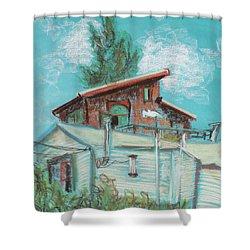 Berkeley Neighbor Houses On A Sunny Day Shower Curtain by Asha Carolyn Young