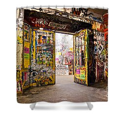 Berlin - The Kunsthaus Tacheles Shower Curtain by Luciano Mortula
