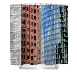 Berlin Buildings Detail Shower Curtain