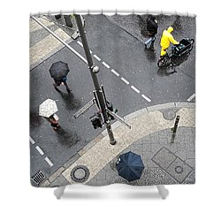 Berlin - Friederichstrasse Shower Curtain by Osvaldo Hamer