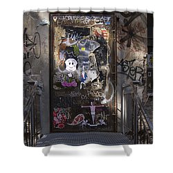 Berlin Graffiti - 2  Shower Curtain by RicardMN Photography