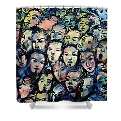 Berlin Wall Graffiti  Shower Curtain