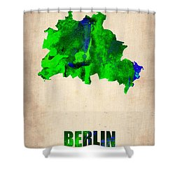 Berlin Watercolor Map Shower Curtain