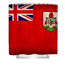 Bermuda Flag Vintage Distressed Finish Shower Curtain by Design Turnpike