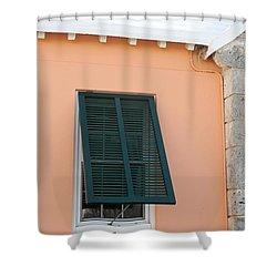 Bermuda Shutters Shower Curtain