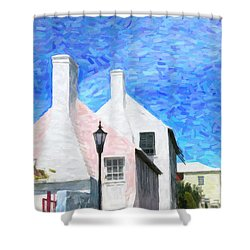 Shower Curtain featuring the photograph Bermuda Side Street by Verena Matthew