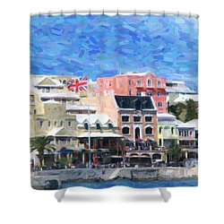 Shower Curtain featuring the photograph Bermuda Waterfront by Verena Matthew